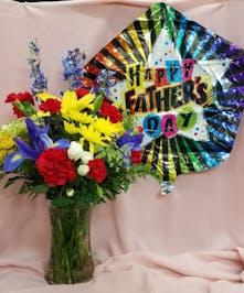 Father's Day Vase & Balloon