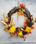 Birds & Pods Fall Wreath