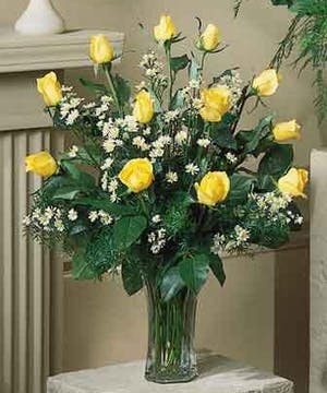 Beautiful Hand Picked Yellow Roses