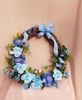 Blue Sky Silk Wreath