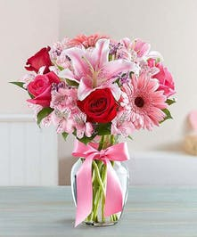Blushing Romance Vase
