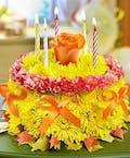 Bright Fall Flower Cake
