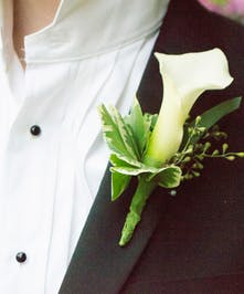 White mini calla lily