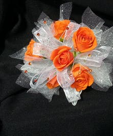 Orange Spray Rose wristlet