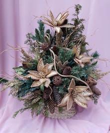 Golden Christmas Arrangement