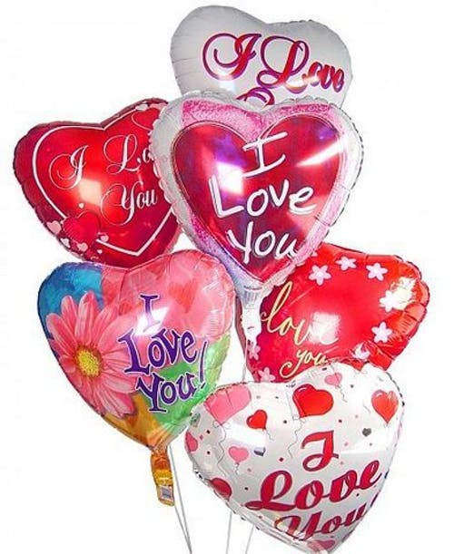 I Love You Mylar Balloons
