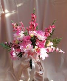 Pink silk cone