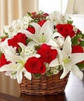 Classic Red & White Basket