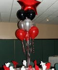 Red Star Mylar Balloon Bouquet