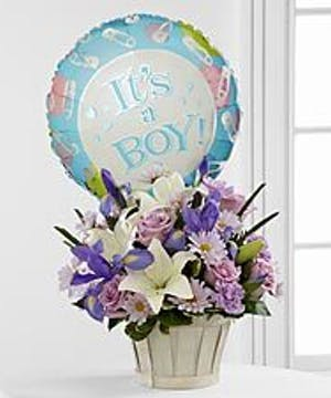 Baby Boy Balloon Included!