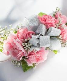 Pink Mini Carnation Wristlet