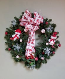 Whimiscal Snowmen Silk Wreath
