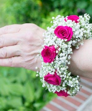 Hot Pink Spray Roses